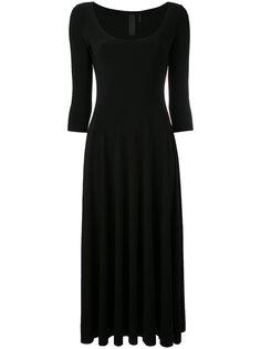 платье-миди с глубоким круглым вырезом Norma Kamali