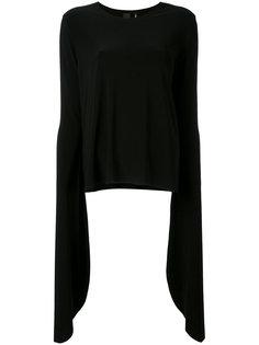 блузка с удлиненными рукавами Norma Kamali