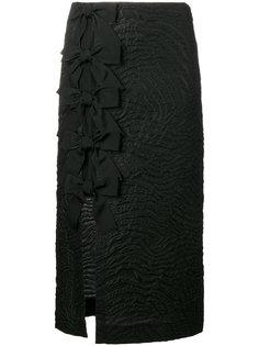 юбка-карандаш с бантами Fendi