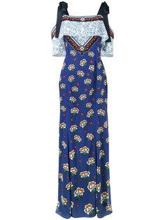 платье с открытыми плечами и цветочным принтом Canasta Mary Katrantzou