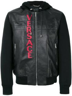 байкерская куртка с капюшоном Versace