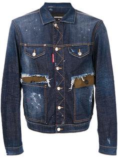 состаренная джинсовая куртка  Dsquared2