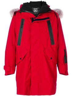 пальто с капюшоном и принтом-логотипом Dsquared2