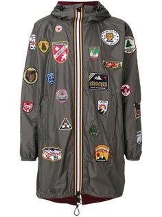 пальто с заплатками в стиле милиатри Dsquared2