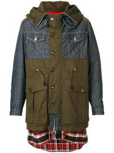 пальто с капюшоном Dsquared2
