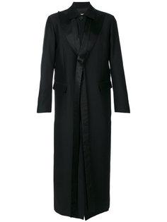 длинное пальто с атласными лацканами Dsquared2