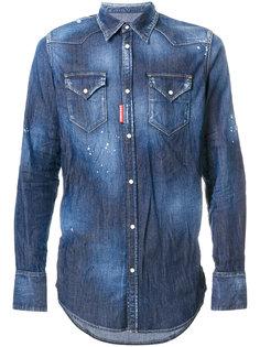 рубашка с заклепками Western Dsquared2