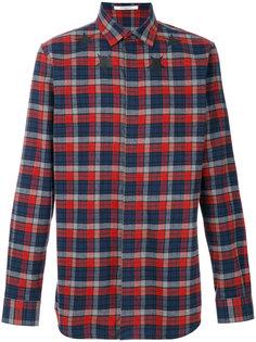 клетчатая рубашка со звездами Givenchy