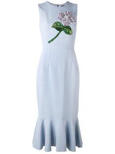 платье миди с цветочной вышивкой Dolce & Gabbana