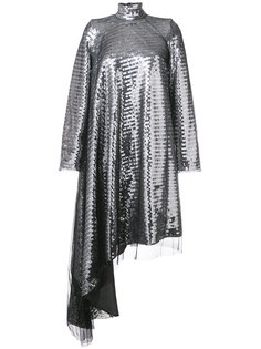 асимметричное платье с пайетками Maison Margiela