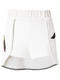 embroidered shorts Andrea Bogosian