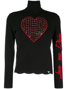 свитер с высокой горловиной Love Me Philipp Plein