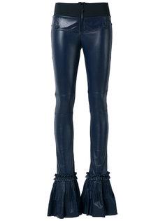 leather flared trousers Andrea Bogosian