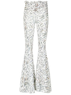 printed flared trousers Andrea Bogosian