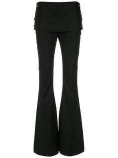 buttoned flared trousers Andrea Bogosian