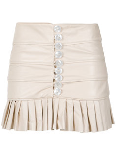 ruffled leather skirt Andrea Bogosian