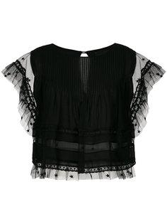 tulle panels blouse Andrea Bogosian