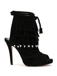fringed sandals Andrea Bogosian