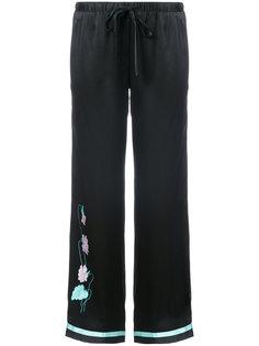 пижамные брюки с вышивкой  Morgan Lane
