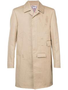 однобортное пальто Thom Browne