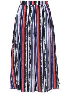 плиссированная юбка со вставками  Prabal Gurung