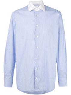 рубашка в полоску с контрастным воротником Hardy Amies