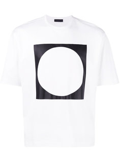 футболка с принтом круга в квадрате Diesel Black Gold