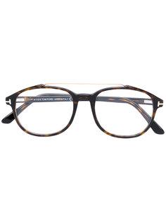 очки в объемной круглой оправе Tom Ford Eyewear