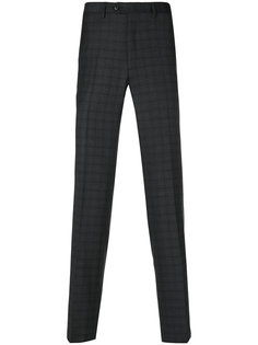 клетчатые брюки Brioni