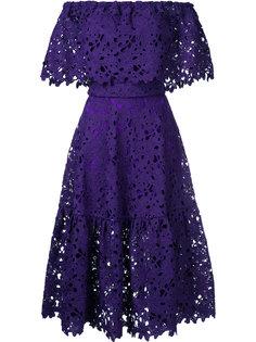 расклешенное платье с кружевной вышивкой  Bambah