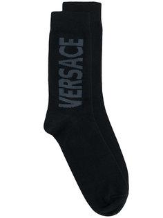 носки с принтом логотипа Versace