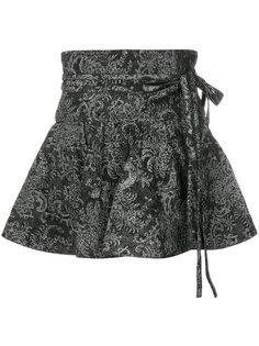 расклешенная мини юбка с цветочным принтом Marc Jacobs