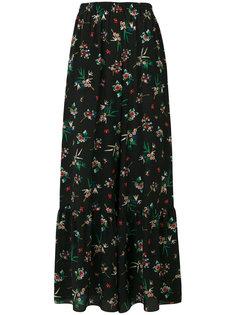 брюки-палаццо с цветочным рисунком Red Valentino