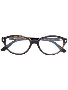 очки в круглой оправе Tom Ford Eyewear