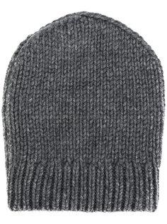 шапка с отделкой в рубчик Eleventy