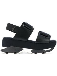 сандалии с ремешками Marni
