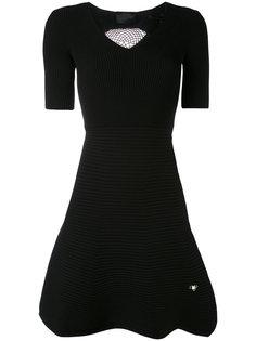 платье с ребристой юбкой Philipp Plein