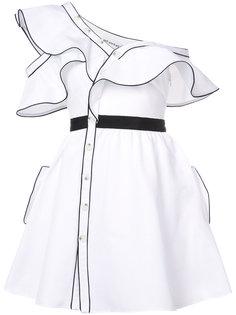 расклешенное платье с оборками Self-Portrait