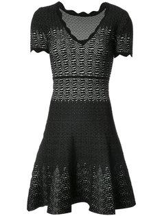 расклешенное платье с эффектом змеиной кожи  Yigal Azrouel