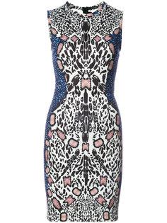 платье с абстрактным леопардовым принтом  Yigal Azrouel