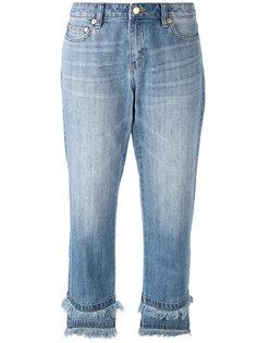 укороченные джинсы с бахромой Michael Michael Kors