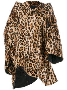 пальто с леопардовым принтом Junya Watanabe Comme Des Garçons