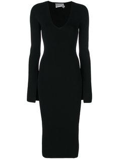 облегающее платье с V-образным вырезом Solace London