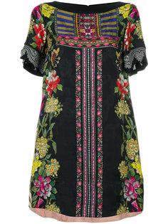 платье-шифт с цветочным принтом Etro