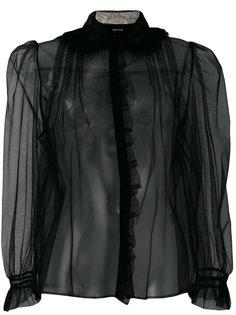 прозрачная блузка с воротником с бахромой Simone Rocha