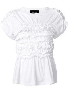футболка с отделкой оборками Simone Rocha
