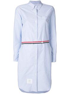 платье-рубашка с тонким ремнем Thom Browne