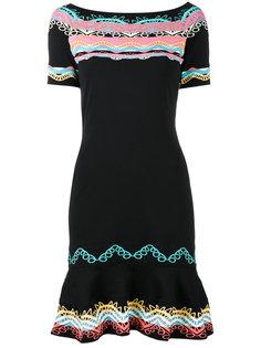 трикотажное жаккардовое платье-мини Peter Pilotto