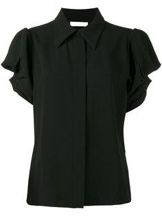 блузка с пышными рукавами и и каплевидными вырезами Chloé