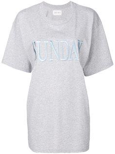 футболка с вышивкой Sunday Alberta Ferretti